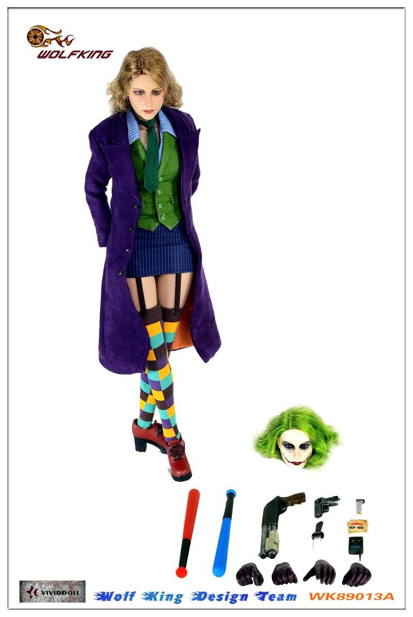 In-Stock 1//6 Scale  WOLFKING WK89008A Female Joker 12in Full Set