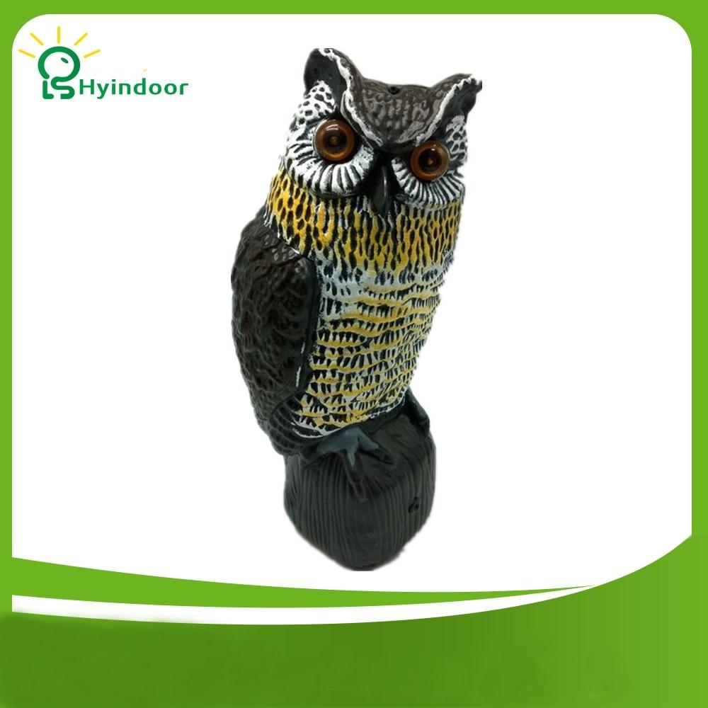 Moisture Proof Waterproof Bird Repellent High Simulation Solar Light Induction Owl Birds