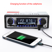 Car Radio Stereo Player Bluetooth Phone AUX IN MP3 FM USB 1 Din Remote Control 12V