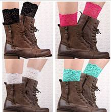 Sexy Womens short Lace Ballet Dance Warm up knitted booty Gaiters Boot Cuffs Boot Covers 20pair/lot #392(China)