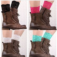 Sexy Womens short Lace Ballet Dance Warm up knitted booty Gaiters Boot Cuffs  Boot Covers 20pair/lot #392