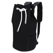 0a93365b28 Canvas Drawstring Bucket Gym Bag Portable Backpack Unisex Training Sports  Backpack Basketball Football Bag Big Capacity