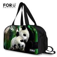 FORUDESIGNS Cute Panda Print Women Travel Bag Fashion Travel Luggage Duffel Tote Large Capacity Femme Canvas Travel Handbag