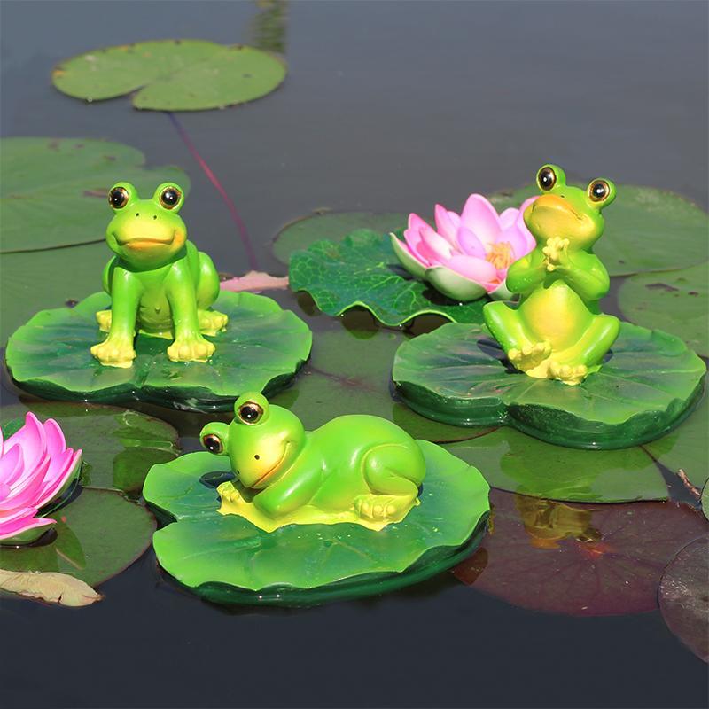 2Pcs Resin Floating Water Frog for Home Garden Pond Aquarium Decor Ornaments