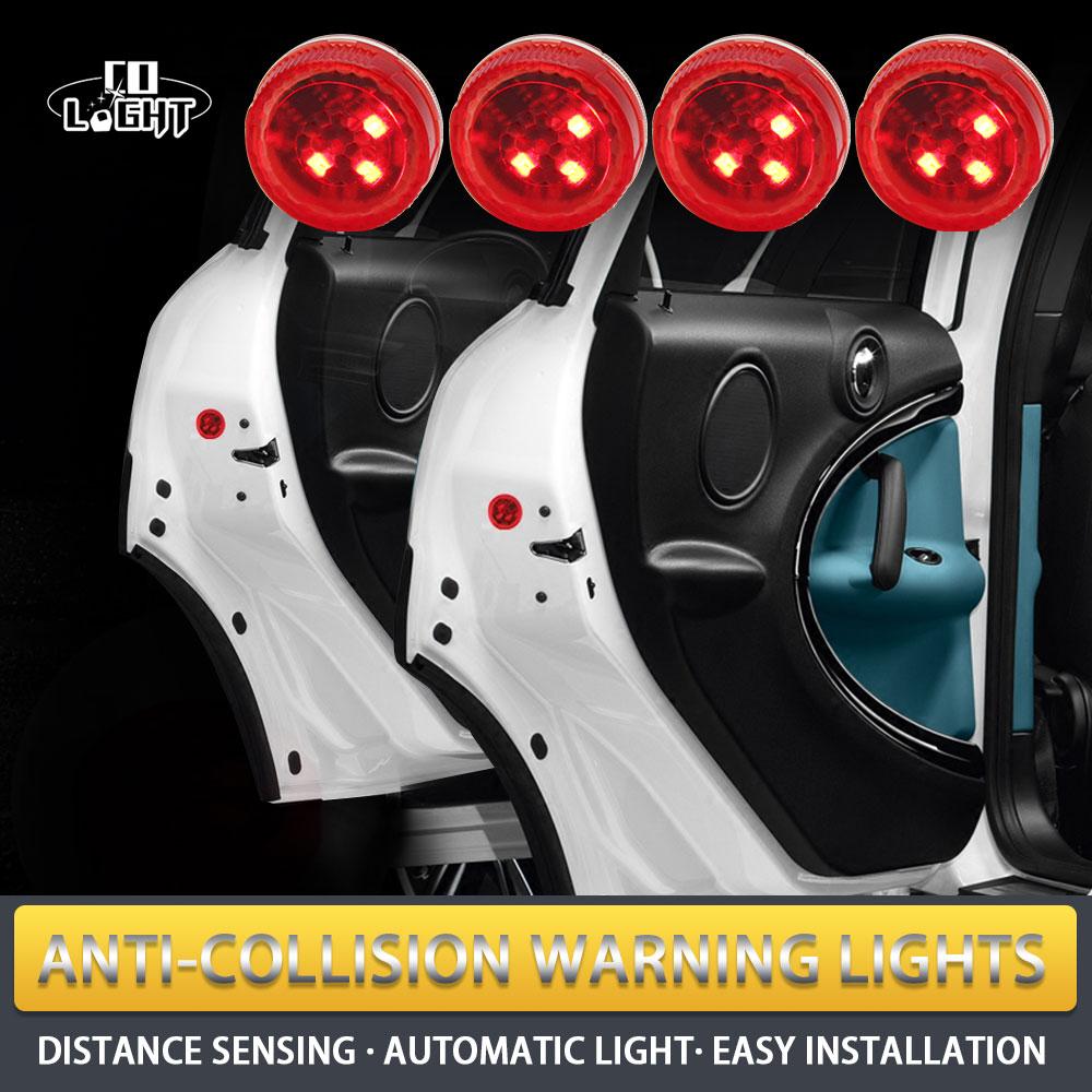 CO LIGHT Door Light 4 Pieces Red Color Signal Lights for Peugeot 407 Ford Fiesta Passat B3 All Cars Car Styling passat b3 светодиодные фары купить