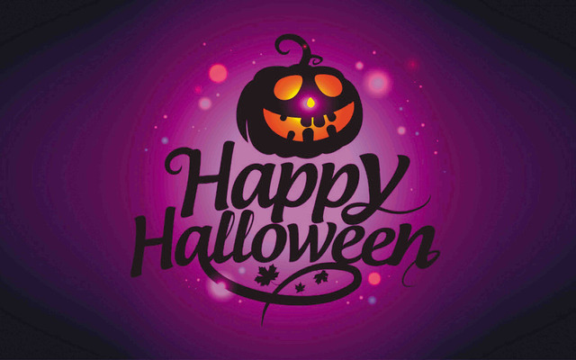 b30ws hd home wallpaper pumpkin witch halloween party silk art print wall ornament unframed - Halloween Party Wallpaper