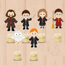 Harry Potter party Cupcake Toppers Harry Potter Birthday Party Decorations Party Supplies Birthday Party Decorations Kids(China (Mainland))