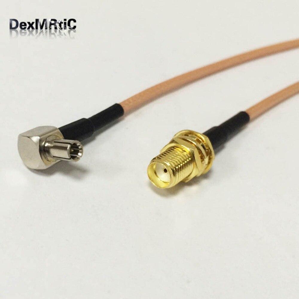 1 pc trança sma fêmea para ts9 macho conector rg316 cabo coaxial sma para ts9 adaptador 15 cm para huawei e5332 e5776 e5372 modem
