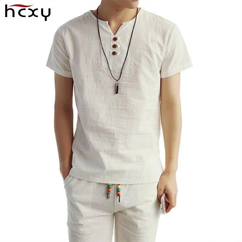 2017 New Summer Style Mens Short Sleeve Linen T shirt Tee Shs