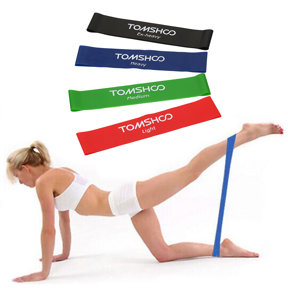 TOMSHOO Exercise Resistance Loop Bands Latex Resistance