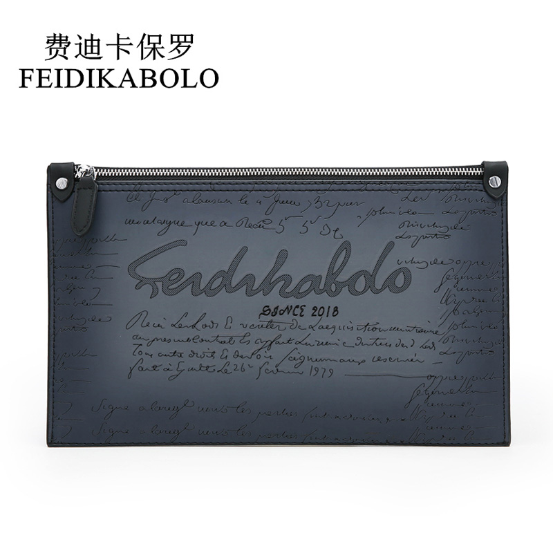 FEIDIKABOLO New Card Holder Wallet Long Men Wallets PU Leather Male Purse Clutch Man Zipper Wallet Fashion Hand Bag Coin Pocket men wallet male cowhide genuine leather purse money clutch card holder coin short crazy horse photo fashion 2017 male wallets