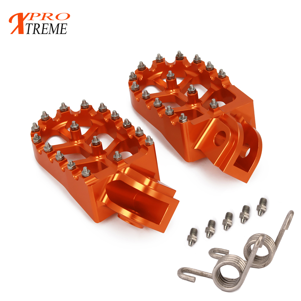 Оранжевый ЧПУ подножки отдыхает педали для KTM EXC SX SXF XC XCW XCF EXCF EXCW XCFW MX шесть дней 65 85 125 200 250 300 350 400 450 525
