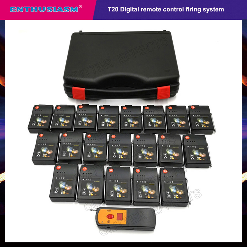 20 Cues Remote Wireless Stage Electric Fireworks T20 Stage Light Machine Wedding Fire System