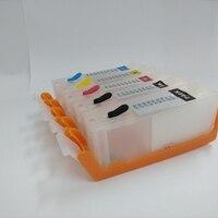 5Pcs PGI 570 CLI 571 Refillable Ink Cartridge Pgi 570 For Canon MG5750 MG5751 MG5752 MG5753