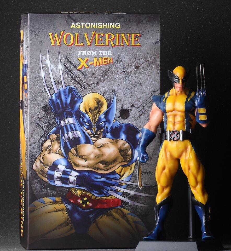 SAINTGI X Men The Wolverine Super Hero Captain America Marvel PVC 30cm Collection Model Gift Action Figure Doll Boy Toy gift marvel deadpool funko pop super hero pvc ow batman action figure toy doll