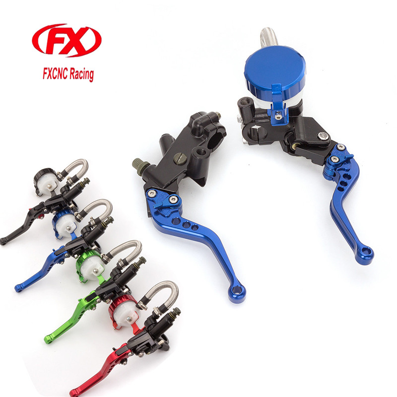 7/8 125-300CC Motorcycle Master Cylinder Reservoir Brake Clutch Lever Hydraulic Brake Lever For Yamaha DT125X 2005 Motorcycles 7 8 22mm universal motorcycles brake clutch levers master cylinder reservoir for suzuki 125 300cc moto hydraulic brake lever