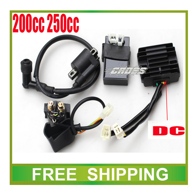 цена на zongshen loncin 250cc cdi+ignition coil+ relay+dc rectifier 150cc 200cc motorcycle dirt bike atv quad accessories free shipping