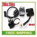 zongshen loncin 250cc cdi+ignition coil+ relay+dc rectifier 150cc 200cc motorcycle dirt bike atv quad accessories free shipping