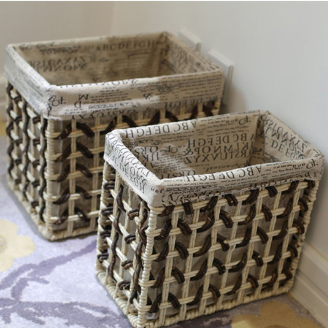 Home Storage Organization Decorative Baskets Small Large For Toys Clothes Dobr Vel