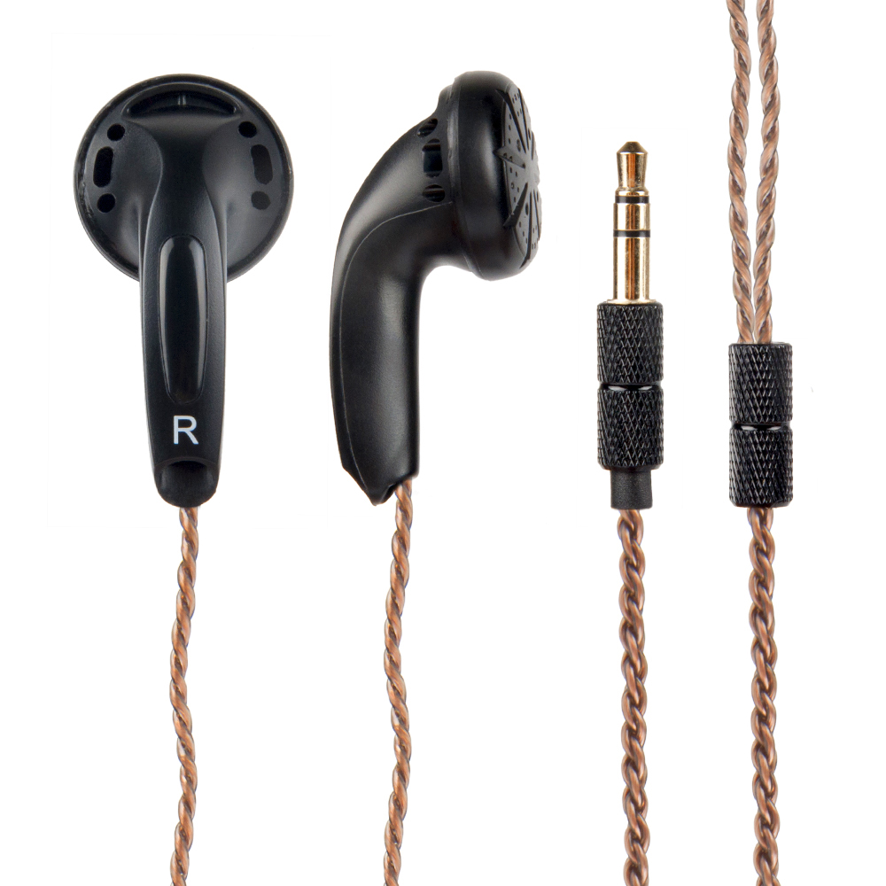 Wooeasy DIY EMX500 In-ear Earphones Flat Head Plug Earphone HiFi Bass Earbuds DJ Earbuds Heavy Bass Sound Quality
