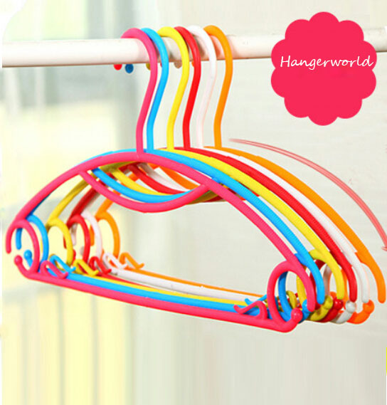 Rainbow Multifunction Plastic hanger for Clothes / 8Colors/ 100% High Quality Ensure (2sets/ Lot)