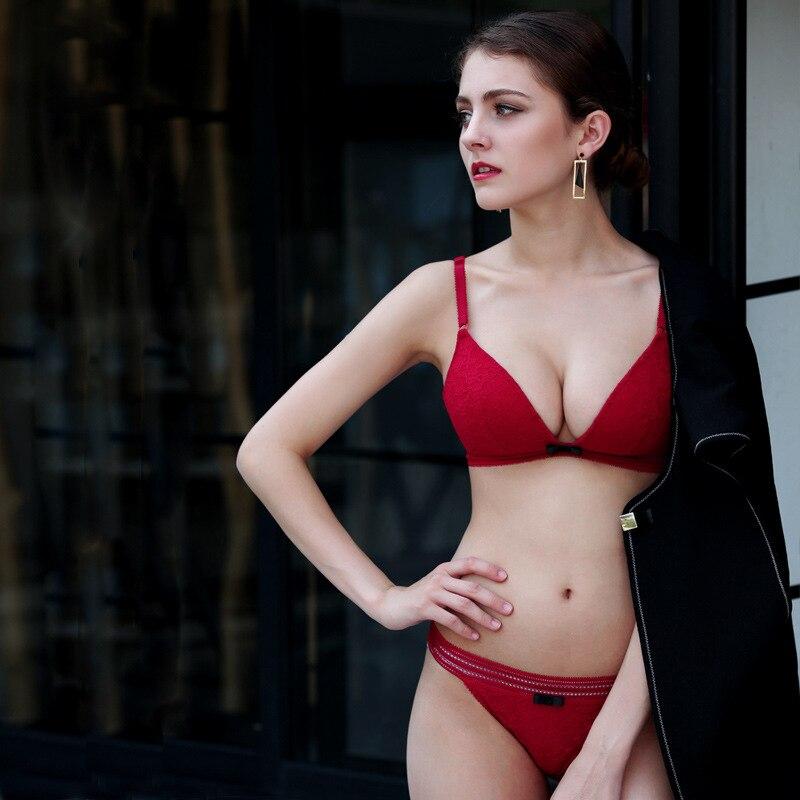 Godier Women Transparent Lingerie   Bra     Brief     Set   Wire Free   Bra     Set   Lingerie   Set   Soutient Gorge Breathable Underwear   Bra   3/4 Cup