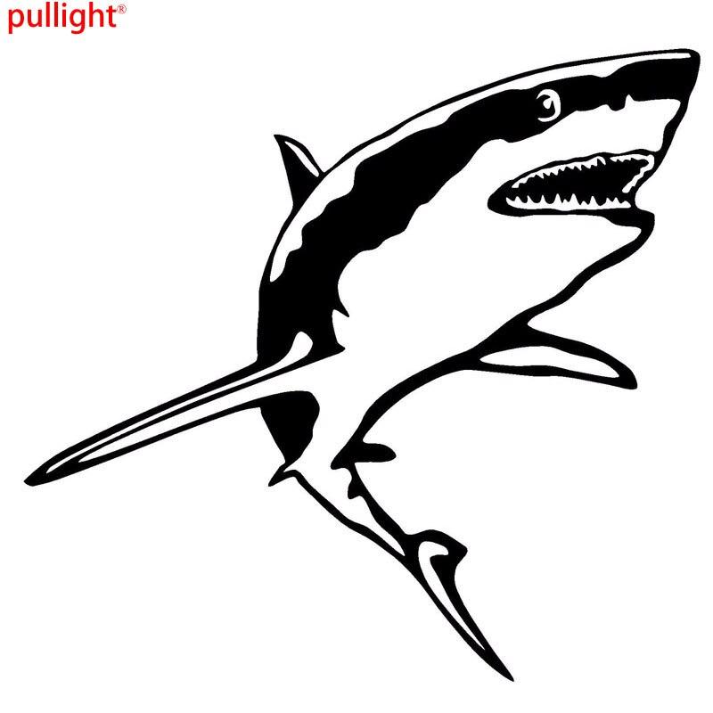 2 x Great White Shark Vinyl Sticker Laptop Travel Luggage #4115