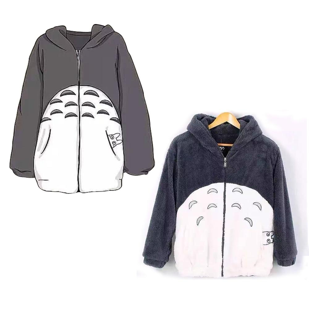 Japanese font b Anime b font My Neighbor Totoro hoodie Cute Gray Hoody Sweatshirt font b