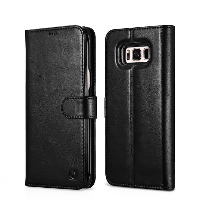 Icarer Folio Leather Case For Samsung Galaxy S8 Detachable 2 in 1 Wallet Folio Case For SAMSUNG S8 Plus Flip Cover