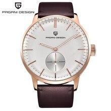 Fashion Casual Men's Watches Men Waterproof 30m Genuine Leather Simple Quartz Watch Luxury Brand PAGANI DESIGN Relogio Masculino