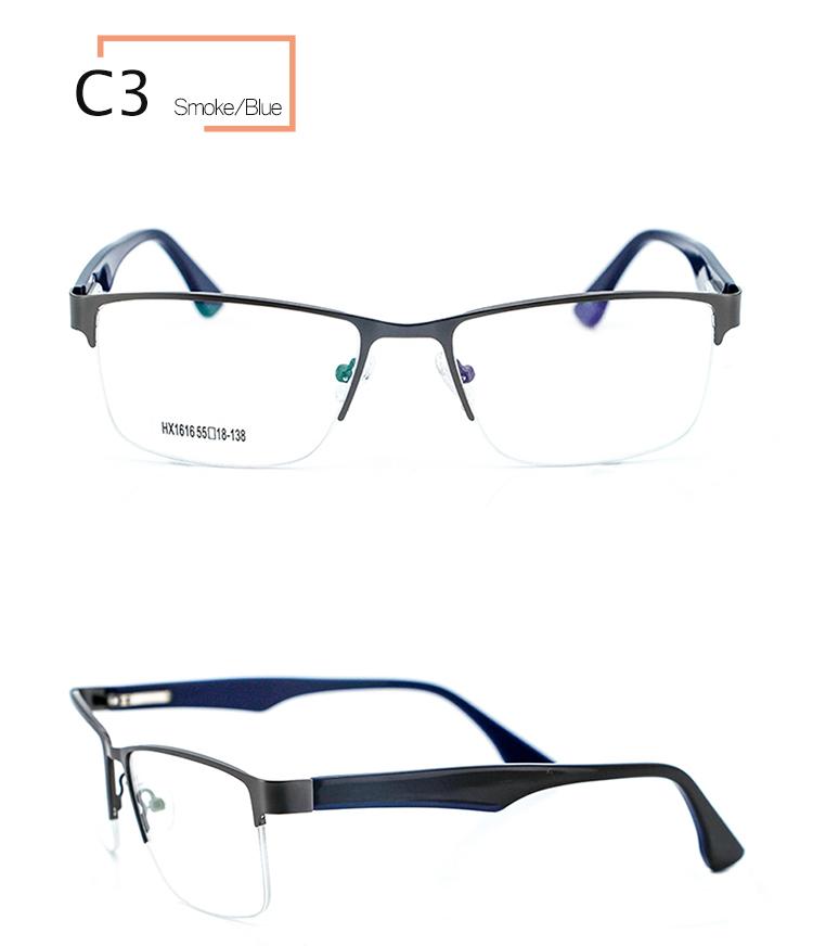 Gebürstetes Metall Silber Brillen Rahmen Männlich Brille Rahmen ...