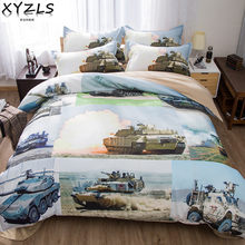 XYZLS Tank US/AU/UK Queen Bedding Set Single King Full Twin Military Series Men Bedding Kit Soldier Double Bed Linings(China)