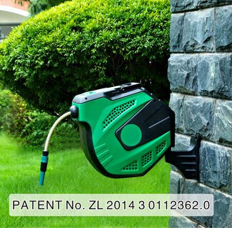 high quality wall auomatic retractable flexible watering pipe cart garden water hose reel 20mchina - Retractable Hose