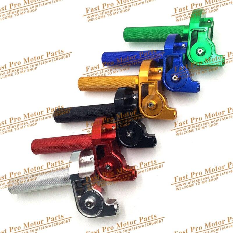 22mm Lenker Cnc Aluminium Gasgriff Schnell Twister Begleichen Für Crf50 70 110 Irbis 125 250 Dirt Pit Bike Motorrad Motocross Seien Sie Im Design Neu