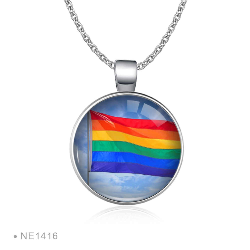 Rainbow nieskończoność miłość wygrywa serce GLBT dla lesbijek geje bisexual Transgender męskie prawa LGBT Pride naszyjniki dla kobiet
