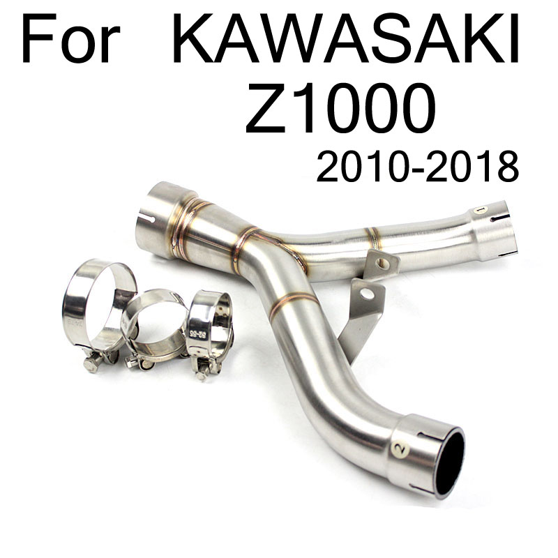 For Kawasaki Z1000 2010 11 12 13 14 2015 2016 2017 2018 Ninja 1000 Z1000 Motorcycle Exhaust Mid Link Connect Modified Pipe Tube