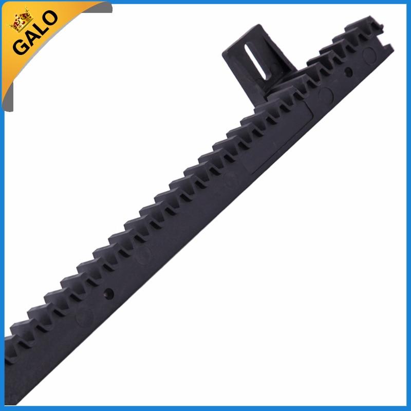 GALO nylon gear rack rail for auto sliding gate opener 1 m per pc 1 order gate opener 1m nylon gear rack rail for sliding gate door the price is for 1unit sliding gate rack and pinion