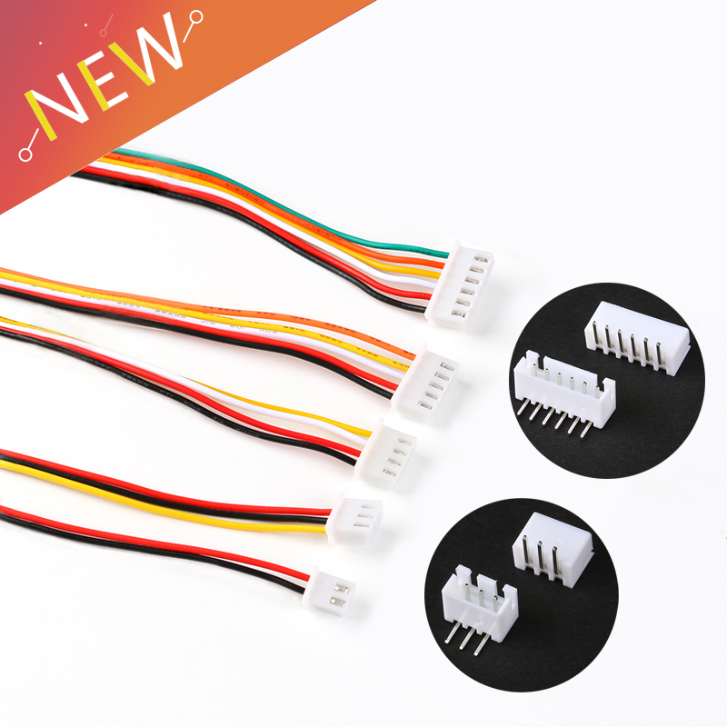10Sets JST XH2.54 XH 2.54mm Wire Cable Connector 2/3/4/5/6 Pin Pitch Male Female Plug Curved Needle Socket 200MM Wire 26AWG