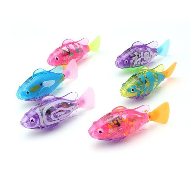 Elettronico di Pesce Nuotare Giocattolo Batteria Inclusa Robot Da Compagnia per I Bambini Da Bagno Giocattolo del bambino di Pesca Serbatoio Decorazione Agire Come Vero E Proprio Pesce 4