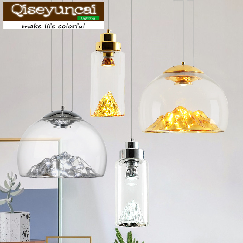 Qiseyuncai 2018 Nordic restaurant chandelier simple modern creative personality cafe bar bar clothing store decoration lighting modern and simple aluminum chandelier creative personality restaurant bar clothing store chandelier free shipping
