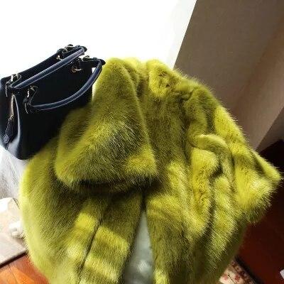 Manteau Épais Furry Fourrure De Long Faux Nouvelle Lâche qwg0Ynp