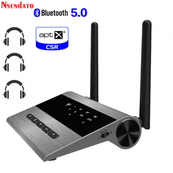 3.5mm jack 80m Long Range Wireless aptx hd bluetooth 5.0 AUX audio Music transmitter Receiver adapter for Broadcast Car Home TV