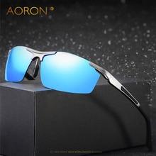 Aoron Aluminum Magnesium Men's Sunglasses Polarized Coating Mirror Sun Glasses oculos Male Eyewear Accessories For Men