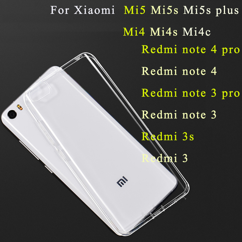 Gel-Case Transparent Xaomi Redmi Mi5s Plus Phone-Cover Note-5a 3s For 5/5s Mi-Max 3-redmi/6-pro/5/..