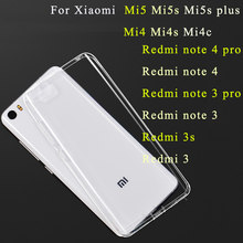 Gel Case For Xiaomi mi 5 5s mi5s plus mi max 3 redmi 6 pro 5 5a 6 Silicone Case Xaomi Redmi note 5a 4 4x Transparent Phone Cover(China)