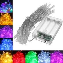 Beautiful Design 4.5V String Fairy Light 5M 50LED Battery Operated Lamp Christmas Wedding  Party Decor
