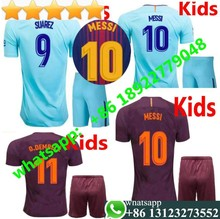 b24dfc35a 17 18 MESSI INIESTA PIQUE SUAREZ Barcelonaes kids soccer jerseys 2017 2018  Children O.DEMBELE COUTINHO child football shirts