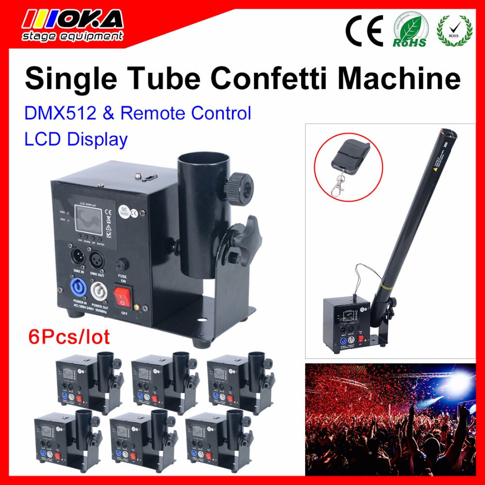 6 Pcs/lot Single Head Confetti Wedding Blaster Electrical DMX Control stage special effect cannon machine Party Confetti Shooter6 Pcs/lot Single Head Confetti Wedding Blaster Electrical DMX Control stage special effect cannon machine Party Confetti Shooter