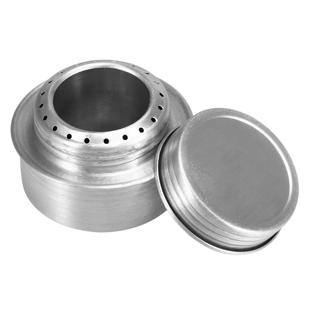 Lixada Mini Aluminum Alloy Alcohol Stove Portable Camping Stove Burner Outdoor Camping Hiking Backpacking Cooking Stove With Lid