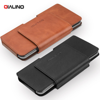 QIALINO Original Para for Galaxy S8/ S8+ Genuine Cowhide Leather Holster Case for Samsung Galaxy S8 Plus, Size: 16 x 9 x 1.4cm